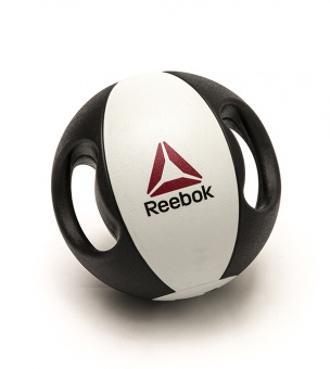 Double grip Med Ball / Медицинский мяч с рукоятками Reebok, 6 - 10 кг RSB-16126